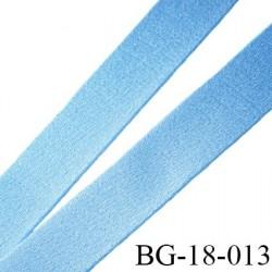 Ruban Devant bretelle 18 mm  attache bretelle rigide  pour anneaux bleu ciel satin brillant  fabriqué en France prix au mètre