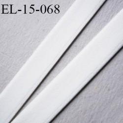 élastique sg lingerie 15 mm couleur naturel intérieur satiné doux grande marque fabriqué en France largeur 15 mm prix au mètre