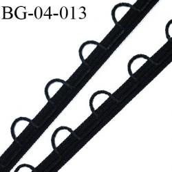 Galon Droit fil boutonnière 4 mm spécial lingerie couleur noir  fabriqué en France très agréable au touché prix au mètre