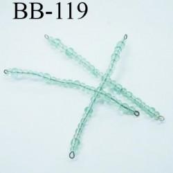 destockage perle  biche de bère  monté longueur 75 mm diamètre 4 mm  couleur vert clair prix a la pièce
