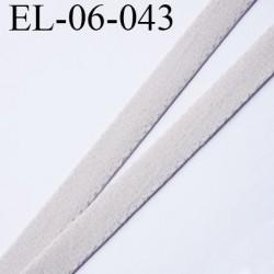 Elastique 6 mm fin style velours spécial lingerie polyamide élasthanne marron glacé fabriqué en France  6  mm prix au mètre