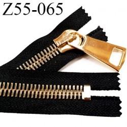Fermeture zip à glissière en métal longueur 55 cm couleur noir non séparable largeur 4 cm zip glissière largeur 12 mm