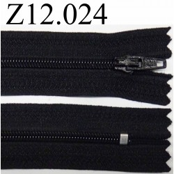 fermeture éclair longueur 12 cm couleur noir non séparable zip nylon