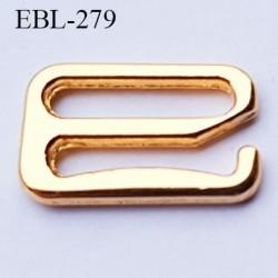 Crochet métal 12 mm  couleur doré or largeur intérieur de passage de bretelle 12 mm haut de gamme