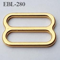 boucle de réglage 14 mm  réglette métal couleur doré or brillant pour soutien gorge largeur intérieur 14 mm  haut de gamme