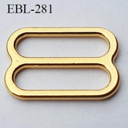 boucle de réglage 10 mm  réglette métal couleur doré or brillant pour soutien gorge largeur intérieur 10 mm  haut de gamme