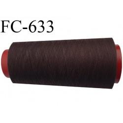 CONE de 1000 m fil polyester fil n° 120 couleur marron longueur de 1000 mètres bobiné en France