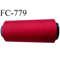 Cone de 2000 m fil mousse polyamide n° 120 couleur rouge longueur de 2000 mètres bobiné en France