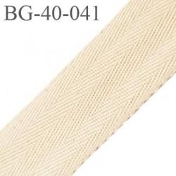 biais sergé 40 mm galon ruban 100 % coton largeur 40 mm couleur écru prix au mètre