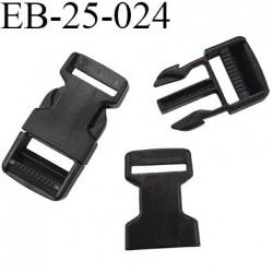 boucle clip en plastique noir haut de gamme passage pour une sangle de 25 mm largeur extérieur 67 mm hauteur 33 mm