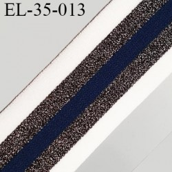 élastique 35 mm spécial lingerie, sport  caleçon fabriqué en France bleu marine blanc noir et argent prix au mètre