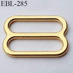 boucle de réglage 9 mm  réglette métal couleur doré or brillant pour soutien gorge largeur intérieur 9 mm  haut de gamme