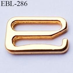 Crochet métal 15 mm  couleur doré or largeur intérieur de passage de bretelle 15 mm haut de gamme