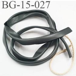 galon biais ruban passe poil façon cuir souple et doux largeur 15 mm couleur  gris anthracite  prix au mètre