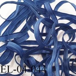 Elastique 4 mm fin spécial lingerie polyamide élasthanne couleur bleu fabriqué en France largeur 4  mm prix au mètre