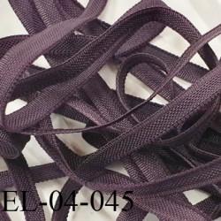 Elastique 4 mm fin spécial lingerie polyamide élasthanne couleur prune fabriqué en France largeur 4  mm prix au mètre