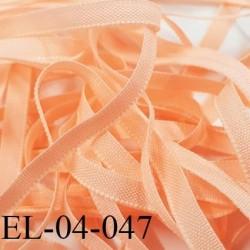 Elastique 4 mm fin spécial lingerie polyamide élasthanne couleur saumon fabriqué en France largeur 4  mm prix au mètre