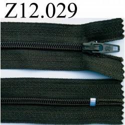 fermeture éclair longueur 12 cm couleur vert kaki foncé non séparable zip nylon