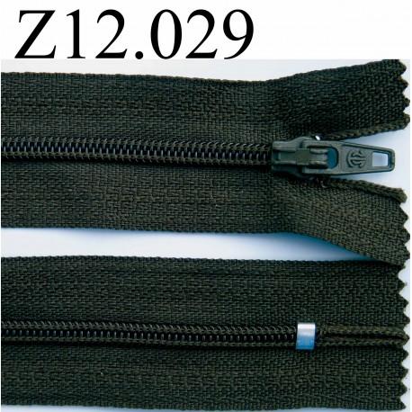 fermeture zip glissi re longueur 12 cm couleur vert kaki fonc non s parable zip nylon. Black Bedroom Furniture Sets. Home Design Ideas