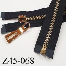 Fermeture zip à glissière en métal  longueur 35 cm couleur noir séparable  largeur 3.6 cm zip glissière largeur 7.5 mm