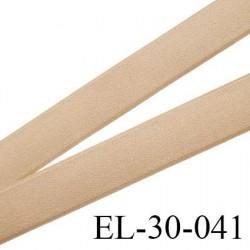 élastique 30 mm aspect velours spécial lingerie très belle qualité couleur chair brillant doux fabriqué en France prix au mètre
