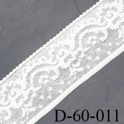 dentelle écru largeur 60 mm lycra élastique fabriqué en France pour une grande marque couleur écru souple prix au mètre