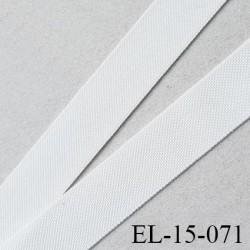 élastique lingerie 16 mm petit grain écru grande marque fabriqué en France polyamide élasthanne largeur 16 mm  prix au mètre