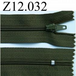 fermeture éclair longueur 12 cm couleur vert kaki non séparable zip nylon