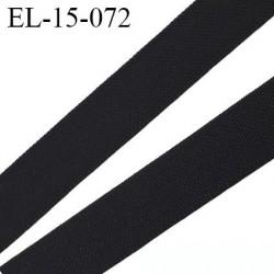 élastique lingerie 16 mm petit grain noir grande marque fabriqué en France polyamide élasthanne largeur 16 mm  prix au mètre