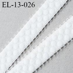 élastique lingerie picot 13 mm couleur naturel  grande marque fabriqué en France largeur 13 mm  prix au mètre