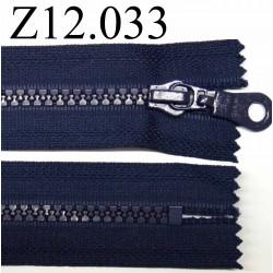 fermeture éclair longueur 12 cm couleur bleu non séparable zip nylon