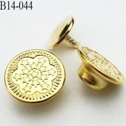 Bouton pour jeans 14 mm en métal couleur or doré avec le clou 14 millimètre prix pour le clou et le bouton