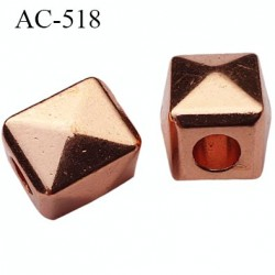 arrêt cordon embout perle métal couleur chromé pour cordon de 5 mm de diamètre vendu à l'unité