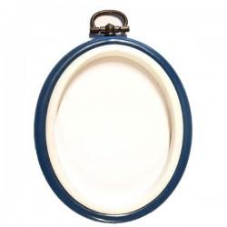 tambour plastique oval beu 10 cm pour encadrer et réaliser vos ouvrages