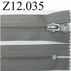 fermeture éclair longueur 12 cm couleur gris non séparable zip nylon largeur 3,3 cm largeur du zip 5,5 mm