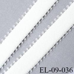 élastique lingerie picot 9 mm couleur naturel forte élasticité grande marque fabriqué en France largeur 9 mm  prix au mètre