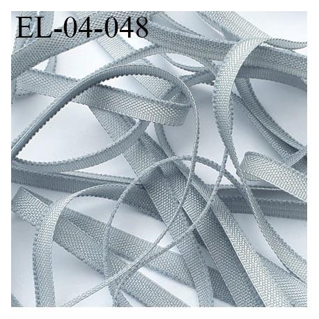 Elastique 4 mm fin spécial lingerie polyamide élasthanne couleur gris fabriqué en France largeur 4  mm prix au mètre