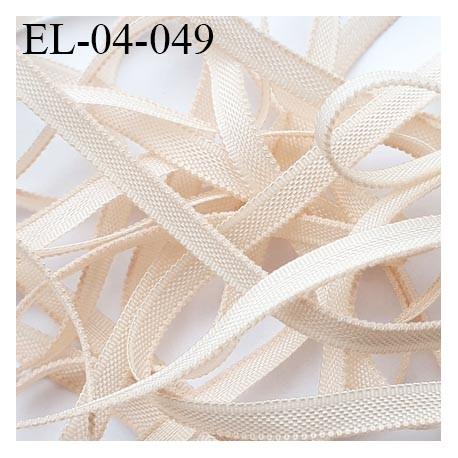 Elastique 4 mm fin spécial lingerie polyamide élasthanne couleur coquille fabriqué en France largeur 4  mm prix au mètre