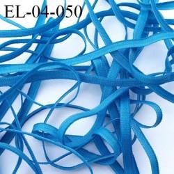 Elastique 4 mm fin spécial lingerie polyamide élasthanne couleur bleu eole fabriqué en France largeur 4  mm prix au mètre