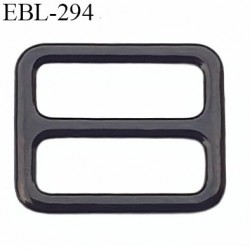 boucle de réglage 10 mm réglette métal plastifié noir brillant  largeur 10 mm intérieur prix à l'unité haut de gamme