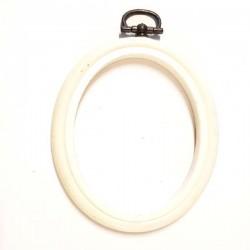 tambour plastique oval blanc 10 cm pour encadrer et réaliser vos ouvrages
