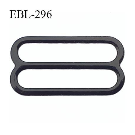 boucle de réglage 24 mm réglette métal plastifié noir brillant  largeur 24 mm intérieur prix à l'unité haut de gamme