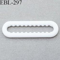 réglette 20 mm réglage de bretelle soutien gorge pvc blanc avec picot pour bloquer la bretelle largeur intérieur 20 mm
