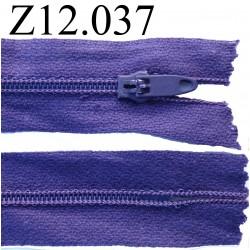 fermeture éclair longueur 12 cm couleur violet non séparable zip nylon