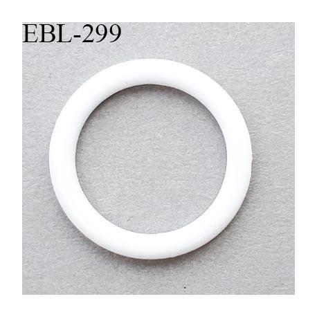 anneau de réglage 12 mm en pvc couleur blanc diamètre intérieur 12 mm  diamètre extérieur 16 mm épaisseur 2 mm