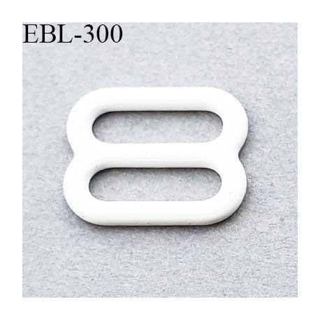 boucle de réglage 8 mm réglette métal plastifié blanc brillant  largeur 8 mm intérieur prix à l'unité haut de gamme