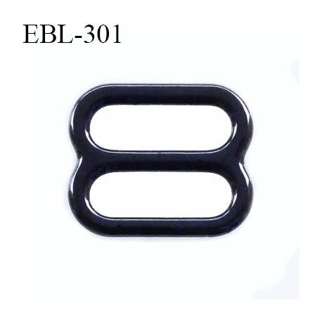 boucle de réglage 8 mm réglette métal plastifié noir brillant  largeur 8 mm intérieur prix à l'unité haut de gamme