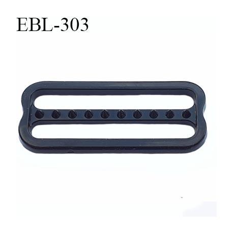 réglette 24 mm réglage de bretelle soutien gorge pvc noir avec picot pour bloquer la bretelle largeur intérieur 24 mm
