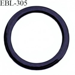 anneau métallique 12 mm plastifié noir  brillant laqué pour soutien gorge diamètre intérieur 12 mm prix à l'unité haut de gamme