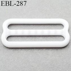 réglette 19 mm réglage de bretelle soutien gorge pvc blanc avec picot pour bloquer la bretelle largeur intérieur 19 mm